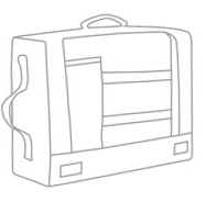 Hot Box 3 - Office and Laptop Bag - Sketch