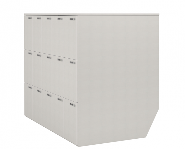 Long Simple White Lockers
