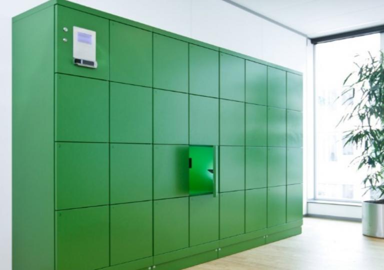 Small Green Lockers