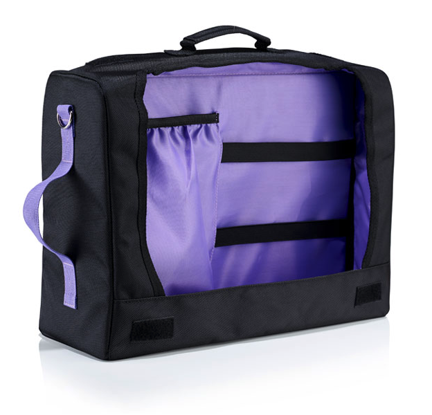 Hot Box 3 - Black and Purple Office Bag