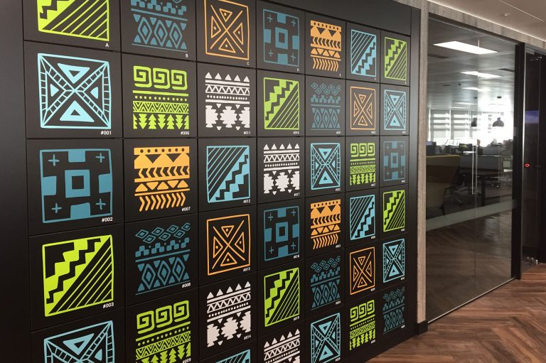 Creative, Patterned Lockers