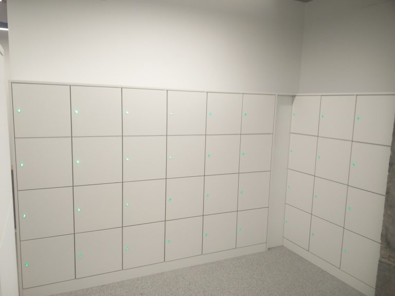 Smart White Lockers for Top Retailer